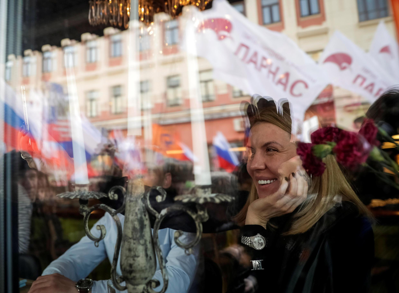 Флаги ПАРНАСа на шествии в память Бориса Немцова. 26 февраля 2017 г. Москва