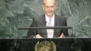 O diretor-geral da OMC, Pascal Lamy, durante a Assembleia Geral das Nações Unidas, em Nova Iorque.