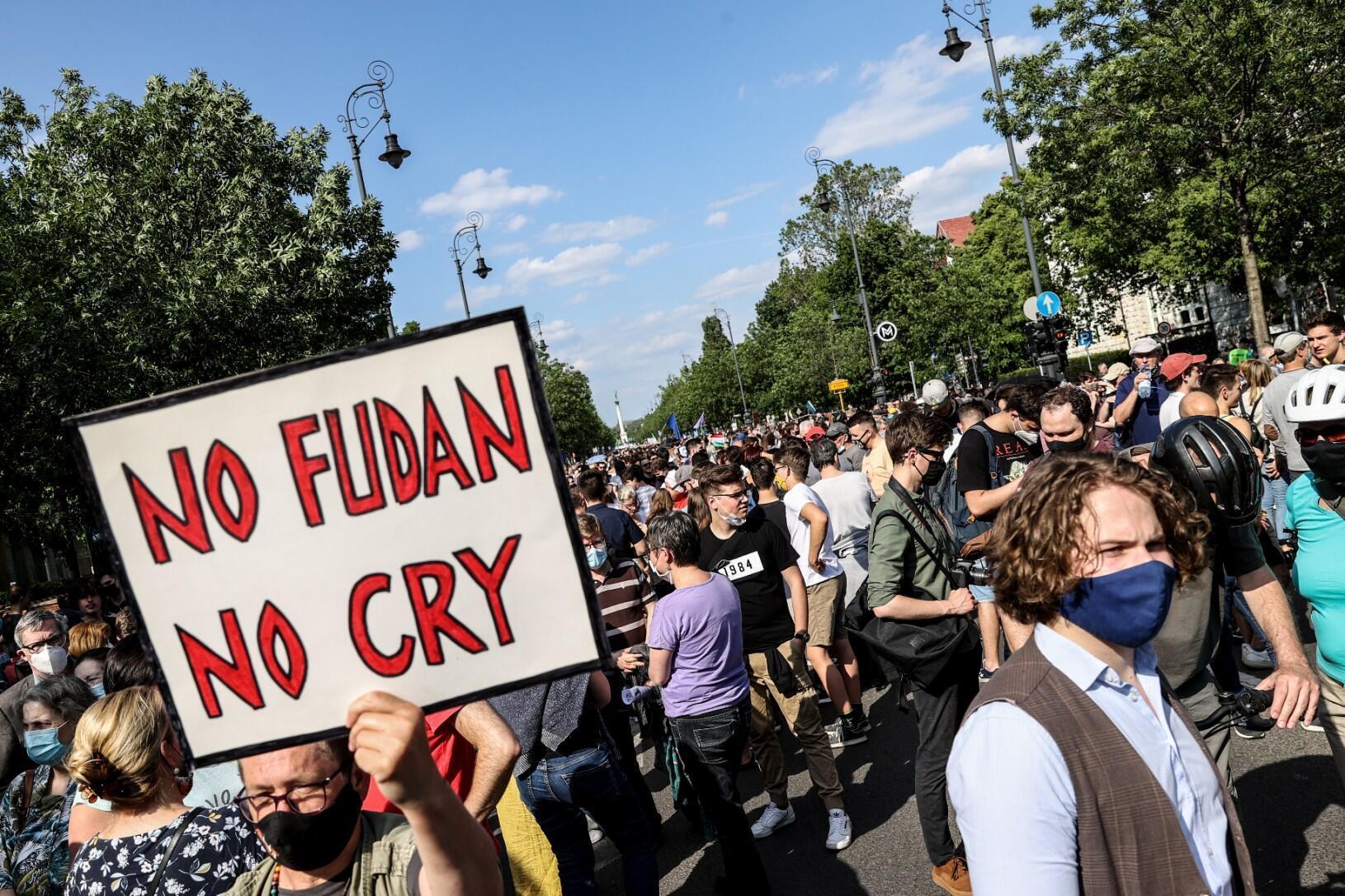 6月5日匈牙利民众抗议资料图片