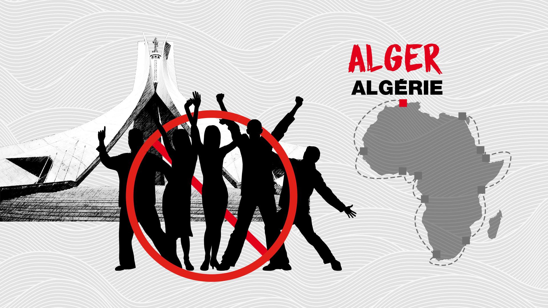 Alger, capitale d'Algérie, sur la côte méditerranéenne.