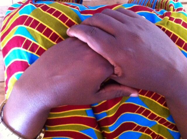 Woman at the AVEGA centre in Kigali, Rwanda