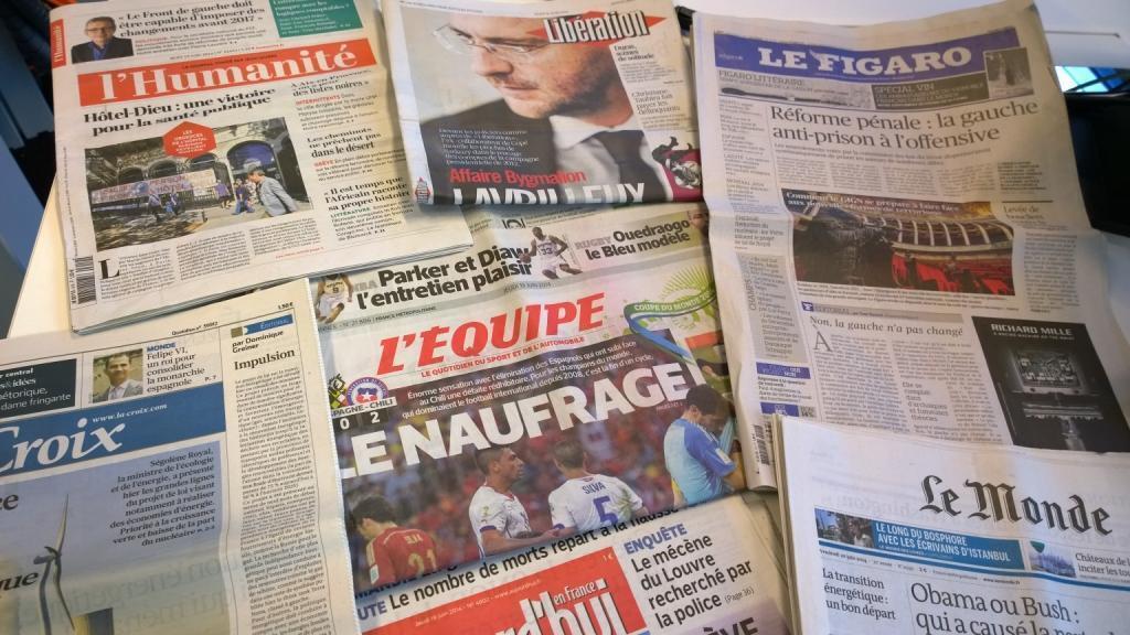 Diários franceses 19/06/2014