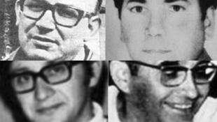 Los cuatro mártires reconocidos por el Vaticano: Enrique Angelelli, Gabriel Longueville, Carlos de Dios Murias y Wenceslao Pedernera.