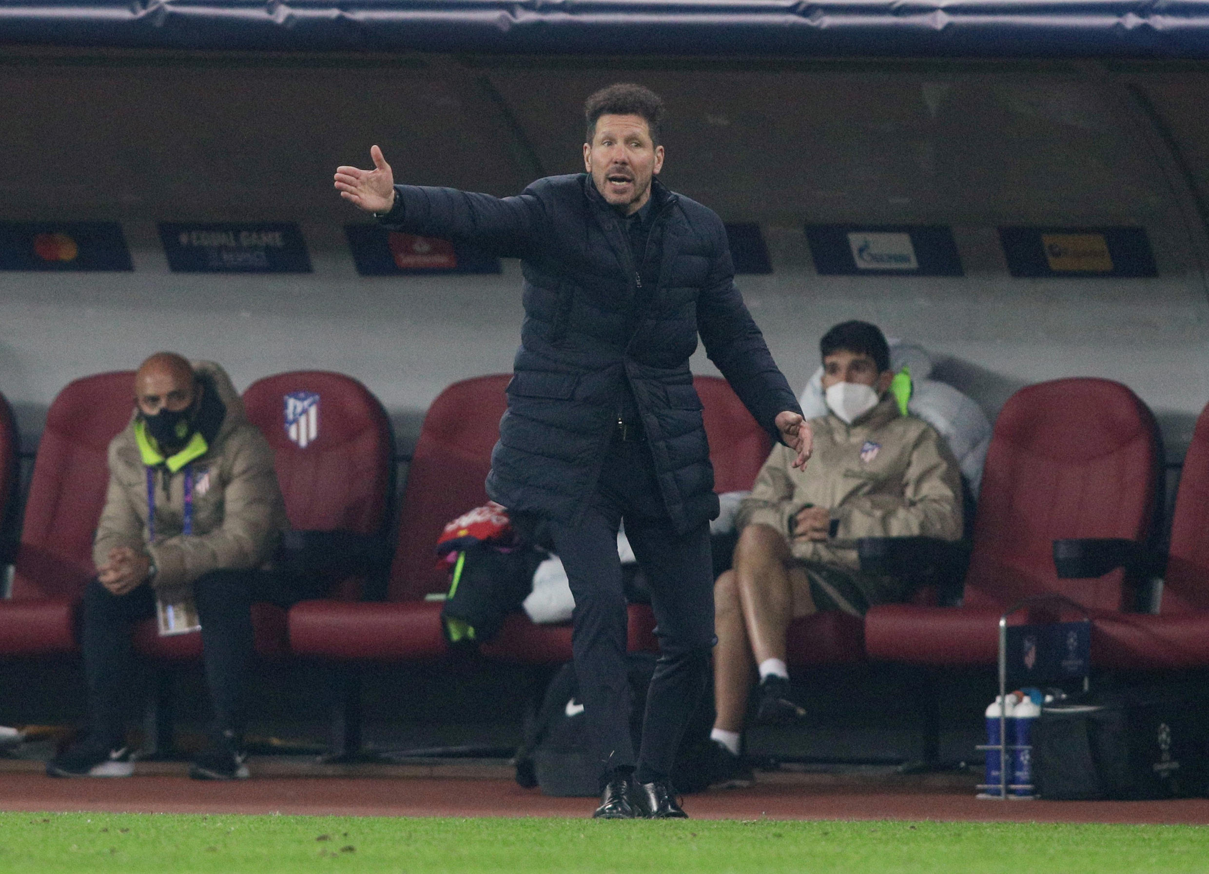 Atletico Madrid coach Diego Simeone is trying to lead his side to a third appearance in the Champions League final.