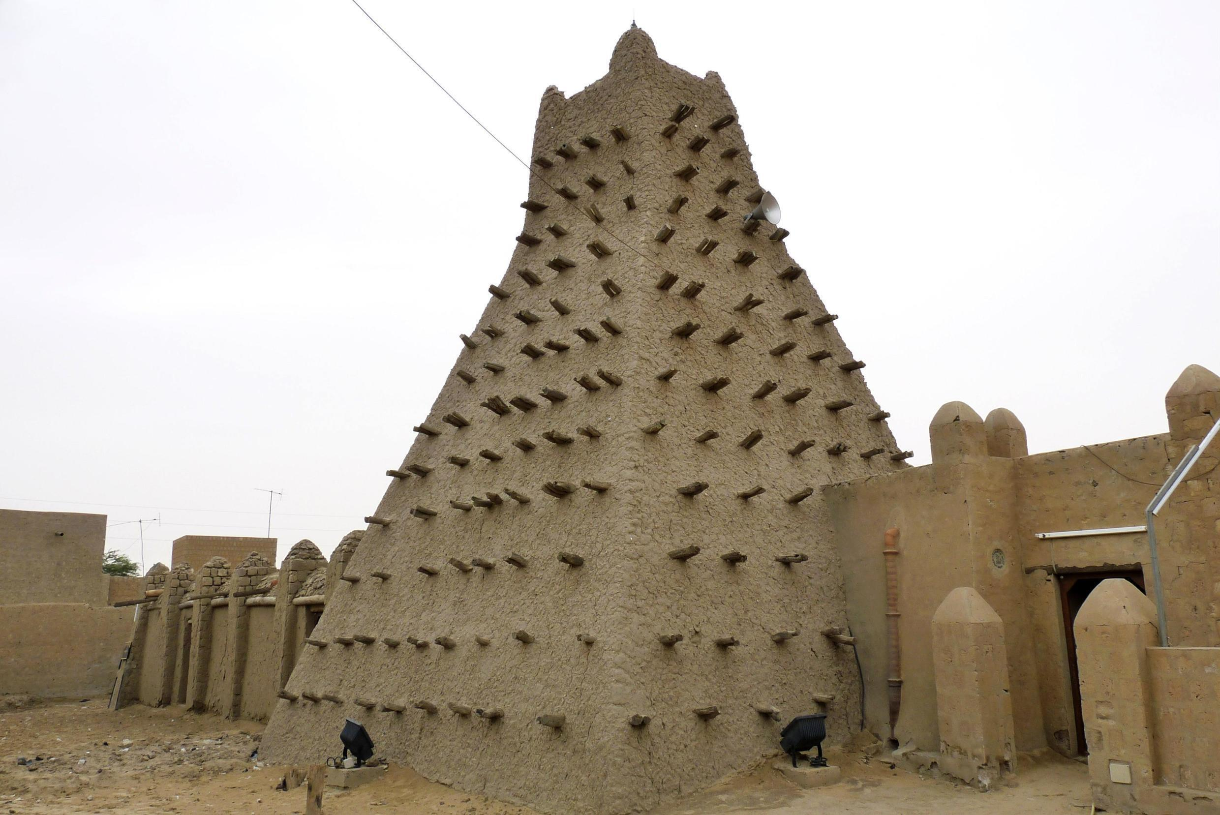 A traditional building in Timbuktu