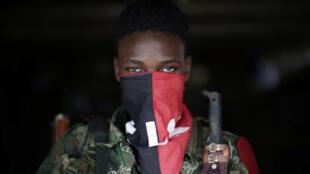 Imagen de archivo de rebelde del ELN, el 31 de agosto e 2017.