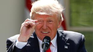 Donald Trump, lors de son annonce du retrait des Etats-Unis de l'accord de Paris, le 1er juin 2017.
