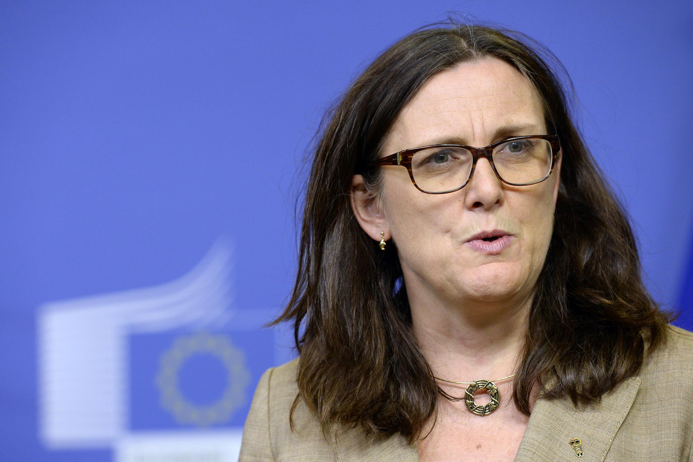 Comissária europeia do Comércio, Cecilia Malmström, frisou que engajamentos da União Europeia em negociações internacionais continua, mas não citou as com o Mercosul.