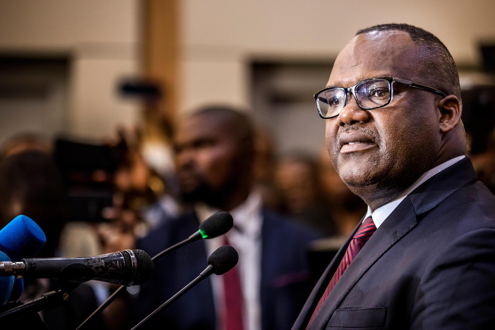 刚果金选举委员会主席Corneille Nangaa Yobeluo,2018年12月 20 日。