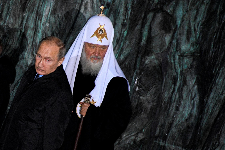 Президент России Владимир Путин и патриарх Кирилл, 30 октября 2017