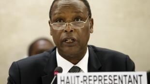 Rais wa zamani wa Burundi Pierre Buyoya, mwakilishi mkuu wa Umoja wa Afrika nchini Mali na katika kanda ya Sahel, kwenye makao makuu ya Umoja wa Ulaya kwenye Umoja wa Mataifa huko Geneva Aprili 1, 2015.