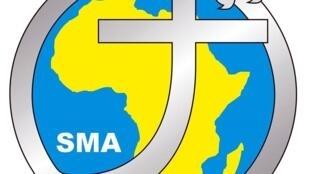 Le logo de la Société des Missions Africaines, une communauté de missionnaires catholiques venant d'Europe, d'Afrique et d'Asie, fondée en 1856.