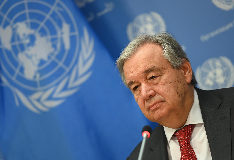 Antonio Guterres, durante una rueda de prensa en la sede central de Naciones Unidas, el 4 de febrero de 2020 en Nueva York