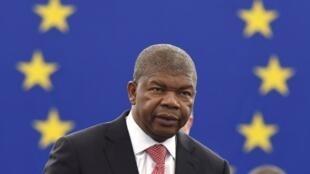 João Lourenço, presidente de Angola no Parlamento Europeu a 4 de Julho de 2018.