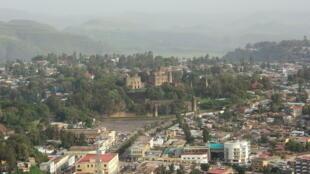 Une vue de la ville de Gondar, en Ethiopie.