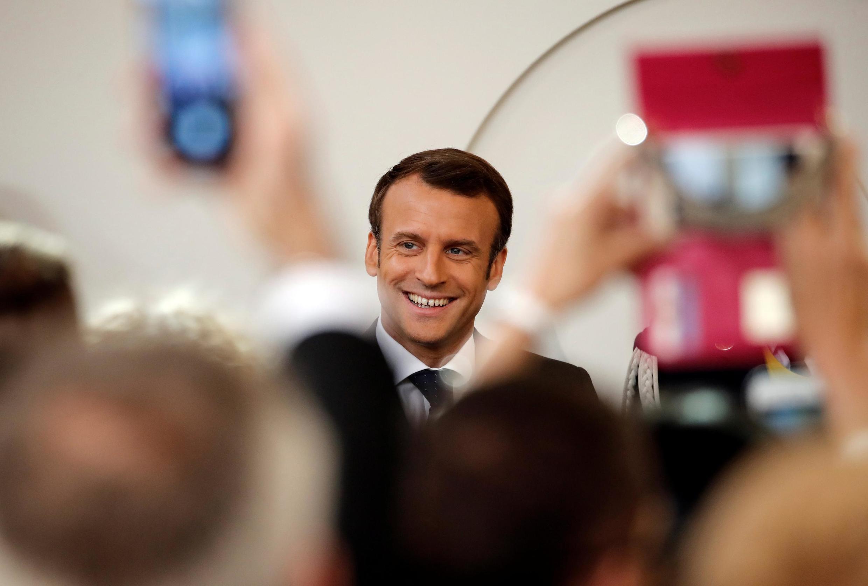 Tổng thống Macron tại điện Elysée ngày 01/05/2019.