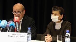 ژان ایو لودریان، وزیر امور خارجه فرانسه طی سفر دوروزه خود  در لبنان
