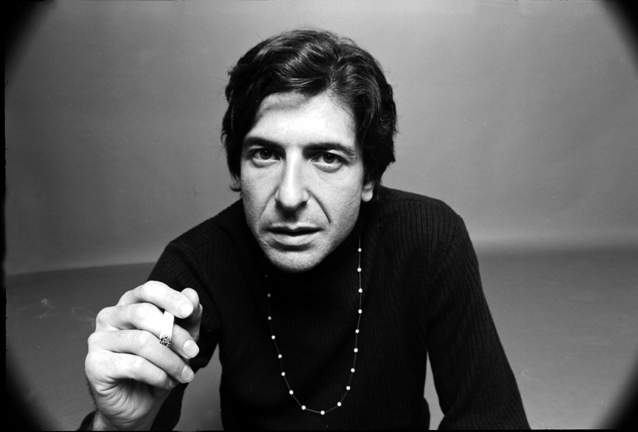 Le musicien et poète Leonard Cohen, en 1967.