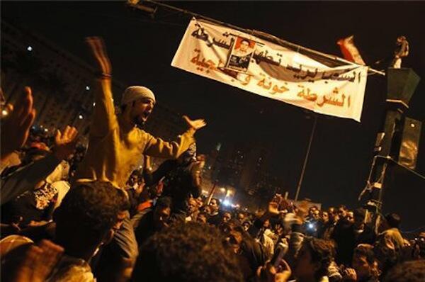Las protestas en la Plaza Tahrir de El Cairo.