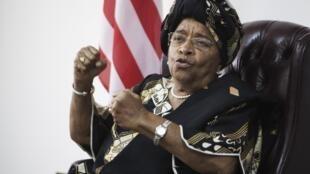 La présidente libérienne Ellen Johnson Sirleaf, à Monrovia, le 11 novembre 2011.