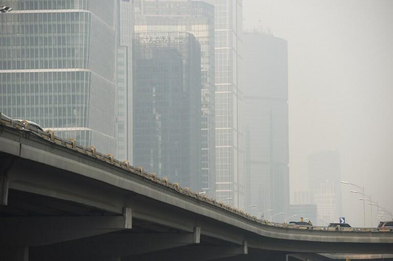 Une vue de Pékin ce 4 novembre 2015. La Chine est le premier consommateur mondial de charbon.