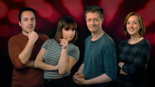 Patrick Baud, Manon Bril, Christophe Michel et Léa Bello (youtubers de l'émission Vortex sur Arte).