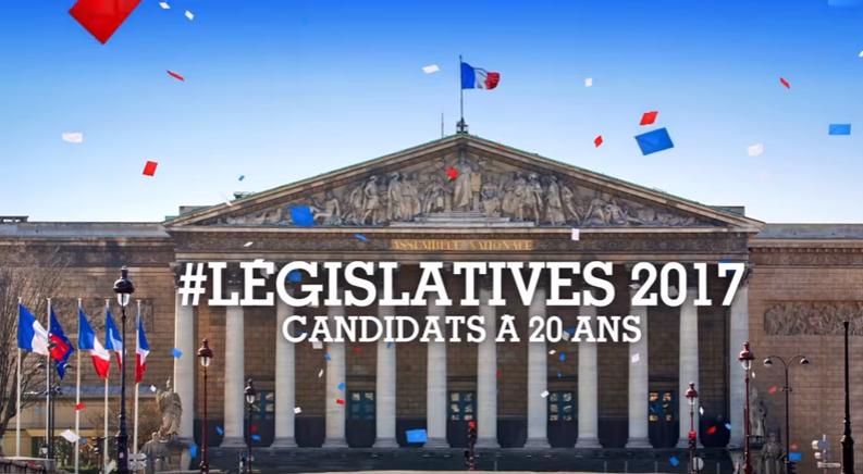 Một áp phích quảng cáo bầu Quốc Hội Pháp
