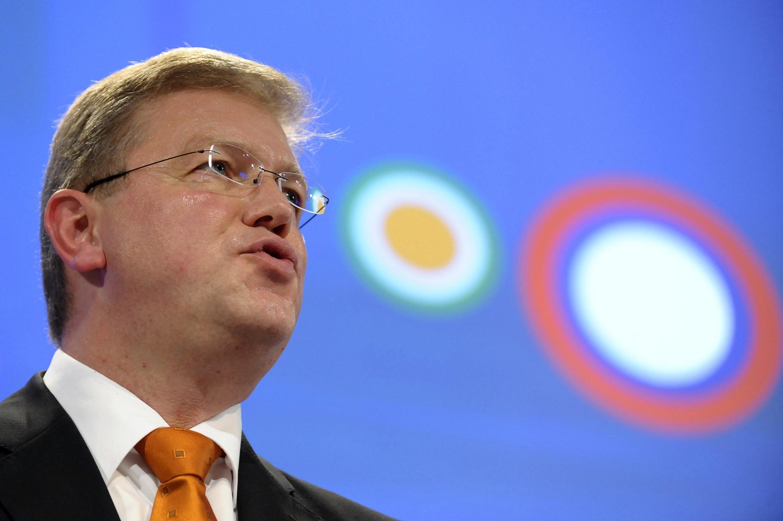 Le commissaire à l'élargissement Stefan Füle au siège de la Commission européenne, à Bruxelles, le 12 octobre 2011.