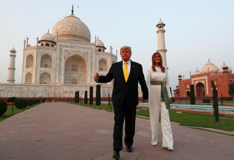 Donald Trump chegou à Índia na segunda-feira,  para uma visita de Estado de dois dias para estabelecer laços comerciais entre os dois países em meio a conflitos com a China.