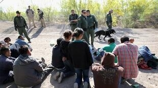 US Air and Marine agents detain undocumented immigrants near the US-Mexico border
