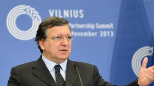 Jose Manuel Barroso, président de la Commission européenne, le 29 novembre 2013 à Vilnius.