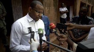 L'ancien Premier ministre malien, Boubou Cissé, en mars 2020 à Bamako. (Image d'illustration)