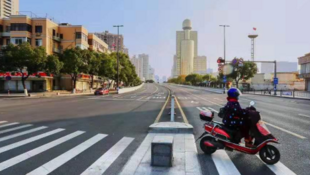 """最嚴""""居家令""""下的浙江溫州街頭資料圖片"""