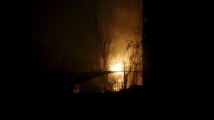 Пожар в ресторане Jardin после нападения террориста-смертника