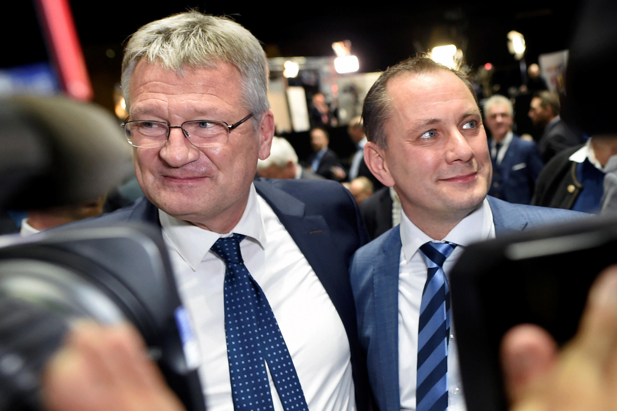 Jörg Meuthen y Tino Chrupalla, los dos nuevos co-presidentes del AfD, 30 de noviembre 2019.