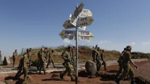 Des soldats israéliens sur le plateau du Golan, le 5 mai 2013.