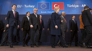 European Leaders meet for EU-Turkey Summit in Brussels, Monday, March 7, 2016