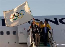 Bendera ya Olimpiki ikiwasili Brazil