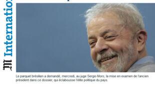 Jornal Le Monde traz em editorial as acusações apresentadas pelo Ministério Público Federal (MPF) contra o ex-presidente Lula.