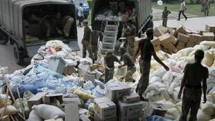Foreign aid arriving in Pakistan