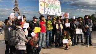 Em maio de 2017, uma manifestação em solidariedade ao povo Guarani-Kaiowá, com a presença do cacique Ládio Verono, foi realizada em Paris.