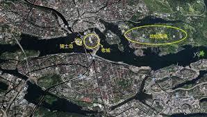 圖為瑞典斯德哥爾摩鳥瞰地圖