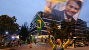Un seguidor de Jair Bolsonaro ayer en Río de Janeiro