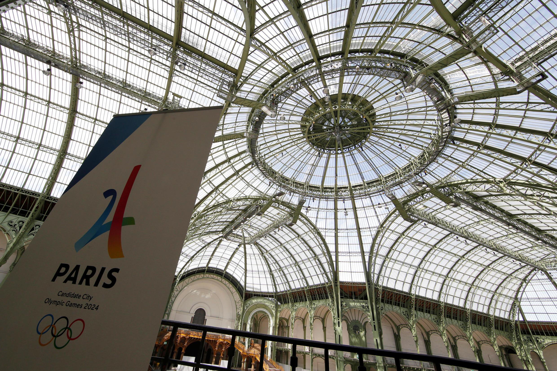 Le Grand Palais est équipé d'installations temporaires pour une démonstration en vue des Jeux olympiques de 2024.