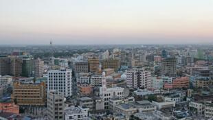 Mji mkuu wa kibiashara wa Tanzania, Dar es-Salaam.