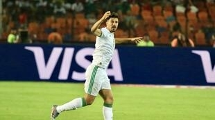 Baghdad Bounedjah of Algeria scored the only goal in the Africa Cup of Nations final.