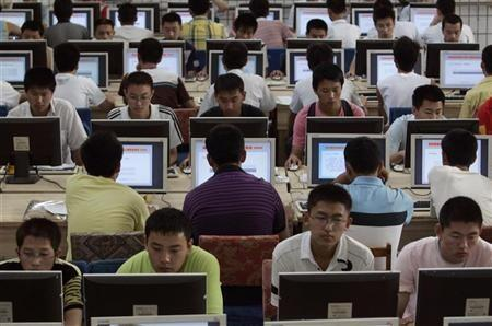 Os sites frequentados pelos internautas chineses têm seus conteúdos controlados.