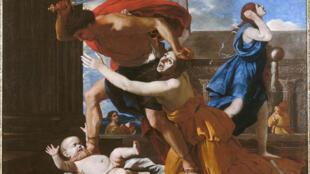 «Le massacre des innocents» de Nicolas Poussin,  au Musée Condé à la Grande galerie de Chantilly.