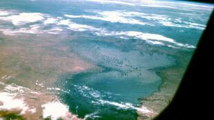 Vue aérienne du lac Tchad.