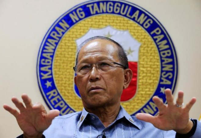 菲律賓國防部長洛倫紮納資料圖片